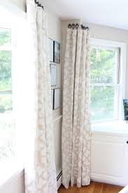 stenciled drop cloth curtain tutorial hang curtains window and room