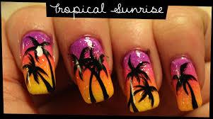 tropical nail art gallery nail art designs
