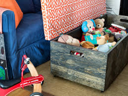 Easy To Make Wood Toy Box by Make A Herringbone Wood Toy Box Storage Ottoman Hgtv