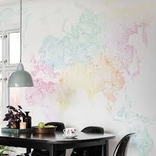 Colored World Map by Wallpaper Worl Map Multi Colored Sandberg Wallpaper