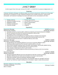 Best Resume For Hotel Management best operations manager resume example livecareer