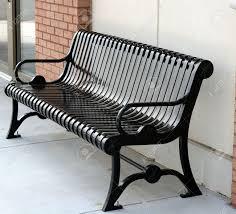 rockport photo on breathtaking wrought iron bench seat nz black
