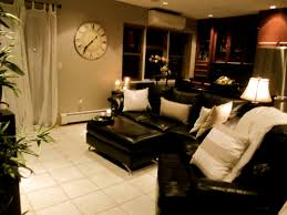 Black Leather Couch Living Room Ideas Living Room Brighten Up Dark Couches With Light Pillows These