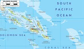 Large Map Of Florida by Large Detailed Physical Map Of Solomon Islands With All Cities And