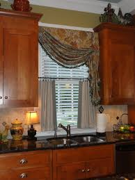Elegant Kitchen Curtains by Simple Curtain In White Color For Elegant Kitchen Design Pretty