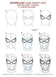 spider man u0027s mask tutorial by lostonwallace on deviantart
