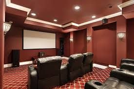 Home Theater Design Pictures L Shape Black Marble Kitchen Bar Table Basement Home Theater