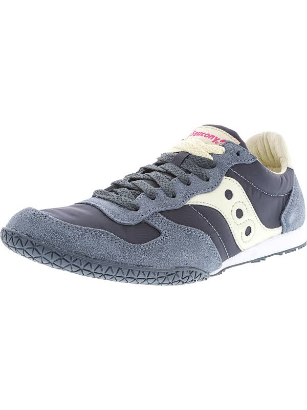 Saucony Bullet Slate / Cream Ankle-High Leather Fashion Sneaker 8M