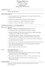 Wwwisabellelancrayus Pleasing Resume Sample Master Cake Decorator With Goodlooking Receptionist Duties Resume Besides Well Designed Resumes
