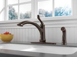 Kitchen Faucet Brass Antique Brass Wide Spread Delta Linden Kitchen Faucet Single