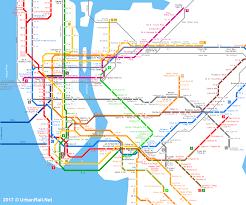 Metro Lines Map by Urbanrail Net U003e America U003e Usa U003e New York U003e New York City Subway U0026 Path