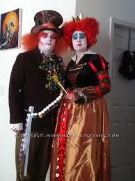 Red Queen Halloween Costume Coolest Red Queen Mad Hatter Couple Costume Red Queen