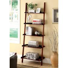 furniture leaning ladder 5 shelf bookcase leaning bookcase
