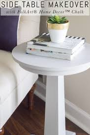 side table makeover with folkart home decor chalk erin spain