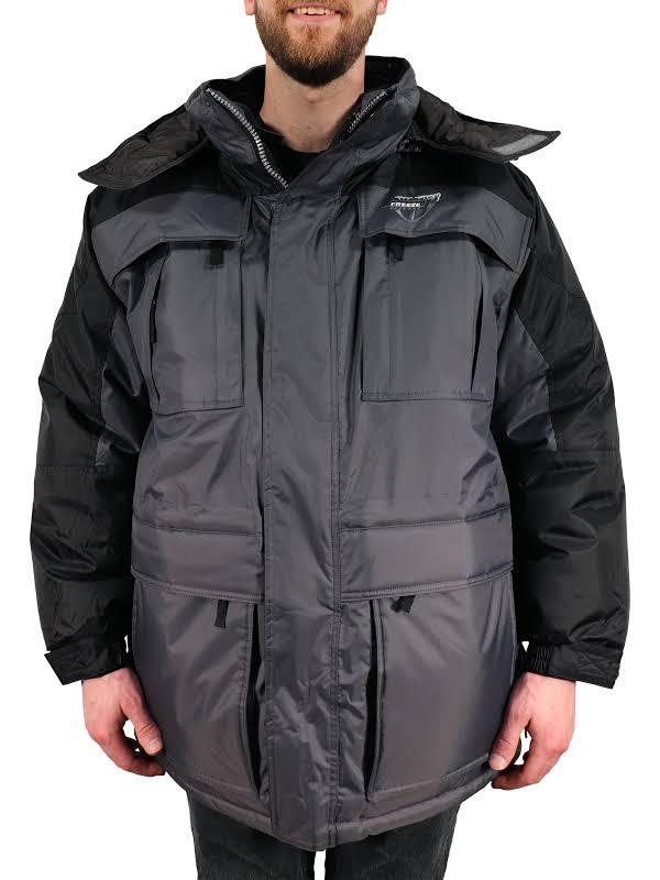 Freeze Defense Big & Tall 3in1 Winter Jacket Coat Parka & Reversible Vest (3XL / 3X, Gray)