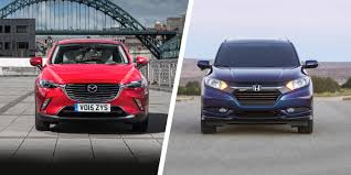 mazda cx 3 vs honda hr v crossover clash carwow