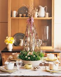 deco nature chic easter and spring centerpieces martha stewart