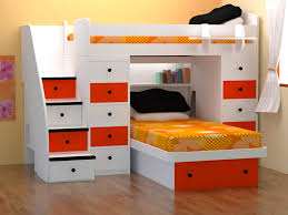 Plans For Bunk Bed With Steps by White Wooden Bunk Beds Cozy Bedroom Interior Design With Cool