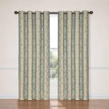 108 Inch Long Blackout Curtains by Eclipse Nadya Blackout Smokey Blue Polyester Curtain Panel 95 In