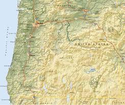 Newport Oregon Map by Oregon State Terrain Map Doretta Smith Oregon Coast Real Estate