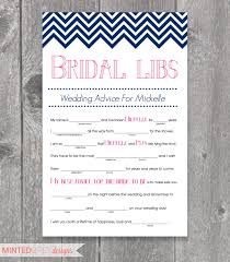 printable chevron bridal libs mad libs bridal shower game