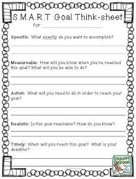ideas about Student Goal Settings on Pinterest   Student     Pinterest S M A R T  goal think sheet to help students set goals for the new year  Free
