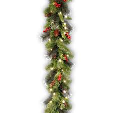 Decorative Garlands Home by Christmas Garland Christmas Wreaths U0026 Garland The Home Depot
