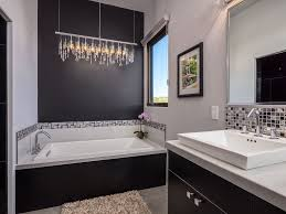 modern 3 4 bathroom with high ceiling u0026 limestone floors in santa