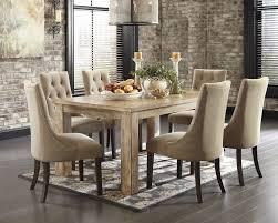 mestler bisque rectangular dining room table 6 light brown uph mestler bisque rectangular dining room table 6 light brown uph side chairs