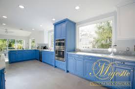 custom kitchen blue u0026 white majestic custom woodworks inc