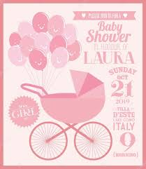 Baby Shower Invitation Cards Templates Baby Baby Shower Invitation Card U2014 Stock Vector Nglyeyee