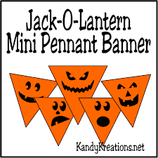 printable halloween banner super easy jack o lantern mini pennant banner printable everyday