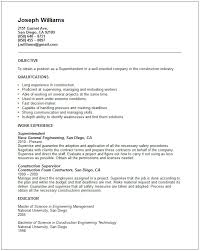 Pipefitter Resume Example by Construction Resume Template Superintendent Resume Resume