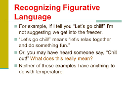 Recognizing Figurative Language The opposite of literal language is figurative language  To be figurative is SlidePlayer