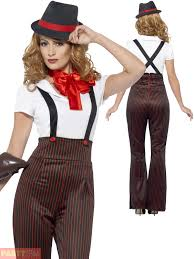 1920 Halloween Costumes Ladies Glam Gangster Costume Adults 1920s Moll Fancy Dress Womens