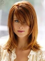 medium short hairstyle with bangs women medium haircut