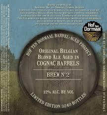 Hof ten Dormaal Cognac Barrel-aged Blond Ale | BeerPulse