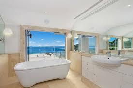 beach themed bathroom tiles clear tempered glass bathtub door