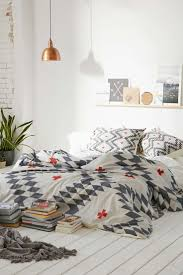 white grey and copper bedroom