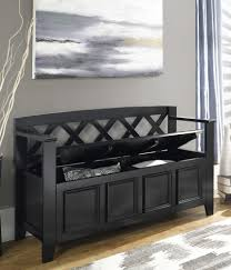 furniture handsome black stained poplar solids wood bench four