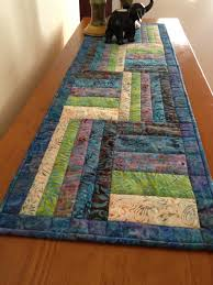 Quilted Table Runners by Nice Batik Table Runner I U0027d Love To Make One Soon Table