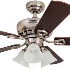honeywell springhill ceiling fan brushed nickel finish 44 inch