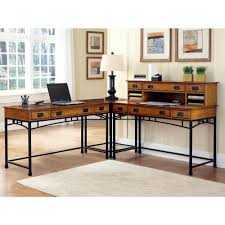 axis espresso l shaped corner desk with door and shelves elw1464
