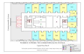 warren towers floor plans housing boston university
