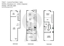 Central Park Floor Plan by Soho Central Park West Irvine Homes And Condos For Sale