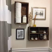narrow bathroom wall shelves