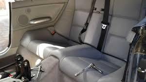 bmw e46 330ci 325ci rear seat removal convertible model youtube