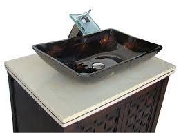 Bathroom Ideas Vessel Sinks Vessel Sinks  Gray Granite Stone - Black bathroom vanity with vessel sink
