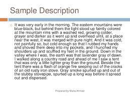 how to make a descriptive essay