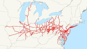 Washington Traffic Map by Pennsylvania Railroad Wikipedia